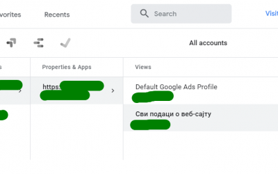 Default Google Ads Profile u Analitici