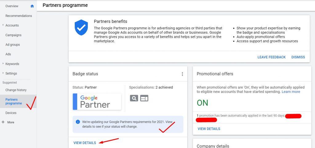 Provera Google Partner statusa u 2021
